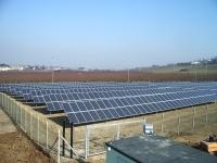 Impianto fotovoltaico da 200 kWp installato su terreno agricolo con allaccio alla rete elettrica in media tensione