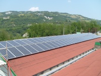 Impianto fotovoltaico da 80 kWp installato sulle coperture di nota azienda edile di Galeata, in provincia di Forlì-Cesena.